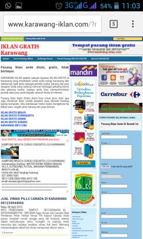 web iklan karawang